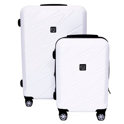 FUL Scribble 2pc Hardside Spinner Luggage Set - White