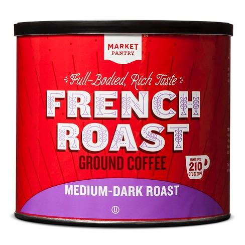 French Roast Medium-Dark Roast Ground Coffee - 27.8oz - Market Pantry™ - image 1 of 2