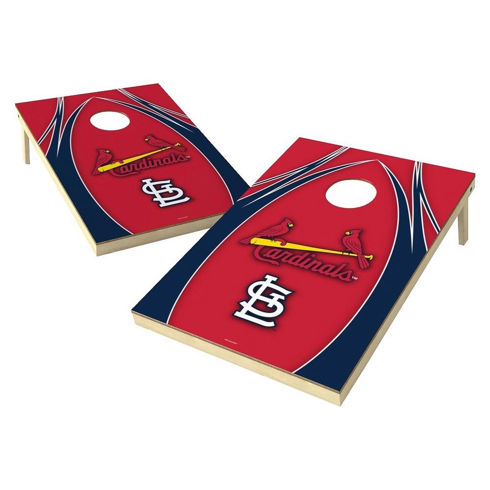 St. Louis Cardinals Wild Sports V Logo Shield Cornhole Bag Toss Set - 2x3 ft.