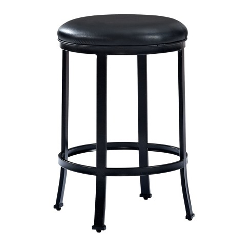Windsor Counter Stool Black with Black Cushion - Crosley® - image 1 of 7