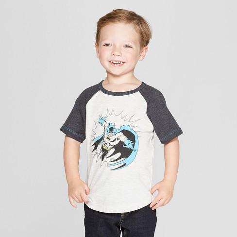 594e8428 Toddler Boys' DC Comics Batman Short Sleeve T-Shirt - White/Gray : Target