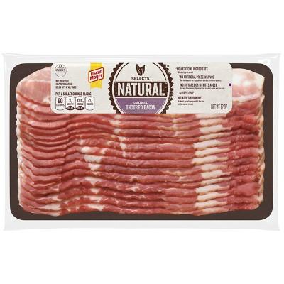 Oscar Mayer Natural Smoked Uncured Bacon - 12oz