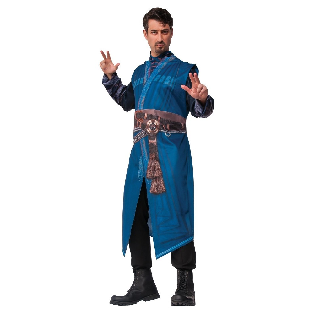 Image of Halloween Marvel's Doctor Strange Robe Adult Costume One Size, Men's, Blue