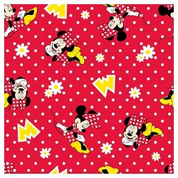 Minnie Mouse Dot Flannel Fabric