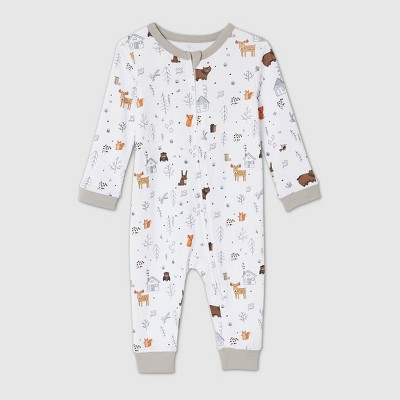 Baby Cabin Print Matching Family Union Suit - White 3-6M