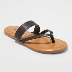 Women's Peggy Thong Sandals - Shade & Shore™ Black