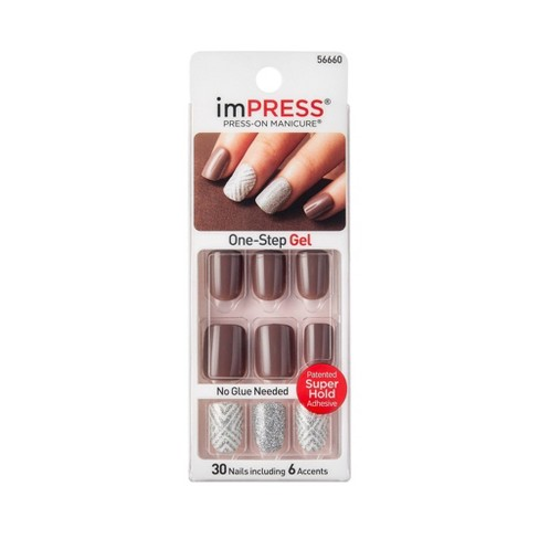Broadway Nails ImPRESS Press-On Manicure - Ecstatic Cling : Target