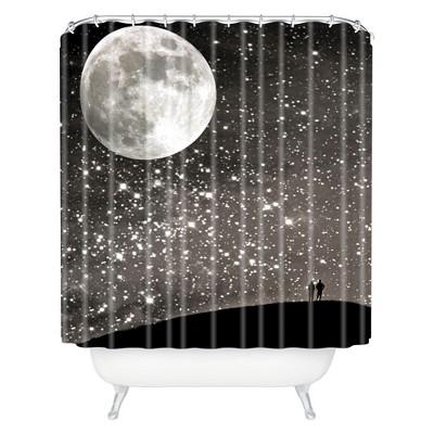 Love Under The Stars Shower Curtain Black - Deny Designs