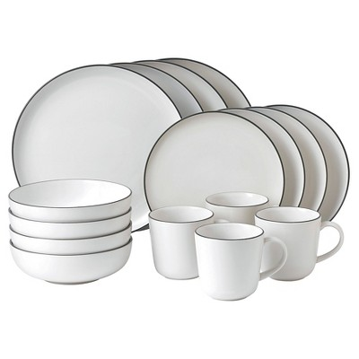 Gordon Ramsay by Royal Doulton® Bread Street Stoneware 16pc Dinnerware Set White