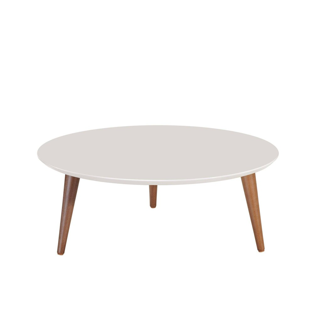 "Image of ""23.62"""" Moore Round Low Coffee Table Off-White - Manhattan Comfort, Beige"""