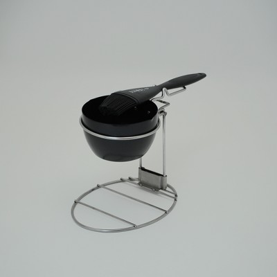 IGNITE Folding Sauce Pan Rack + Pan & Brush