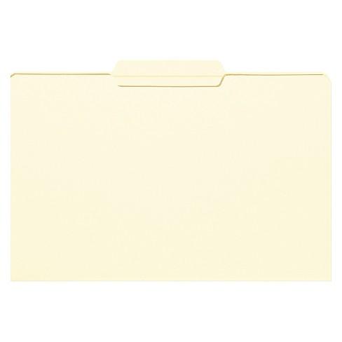 Smead® File Folder, 1/3 Cut Second Position, Reinforced Top Tab, Legal, Manila, 100/Box - image 1 of 1
