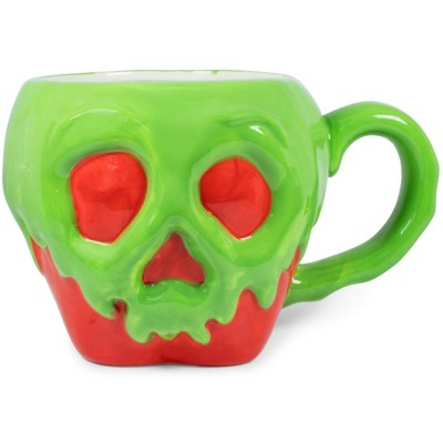 Silver Buffalo Disney Evil Queen Poison Apple Sculpted Ceramic Mug | Holds 20 Ounces