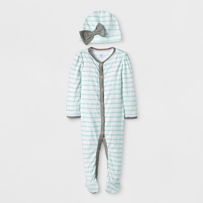 Baby Girls' Geo Bright 2pc SNP Set - Cloud Island™ White 3-6M