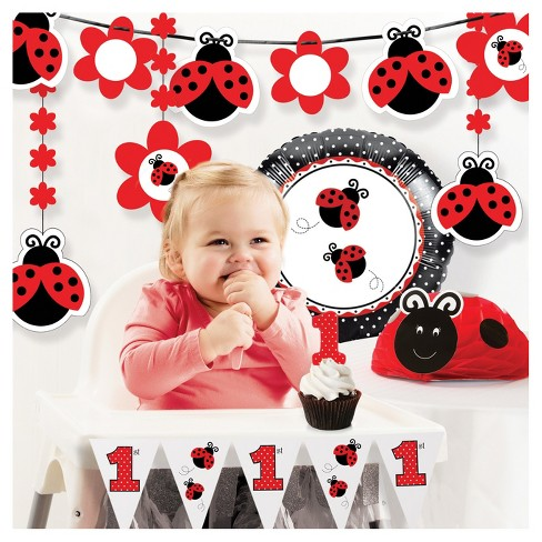 Ladybug Fancy 1st Birthday Party Decorations Kit Target