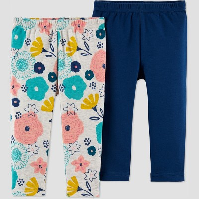 Baby Girls' 2pk Fox Pants - Just One You® made by carter's Heather 3M