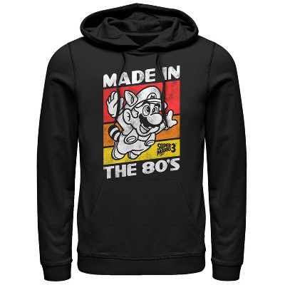 Men's Nintendo Raccoon Mario Made in the 80's Pull Over Hoodie