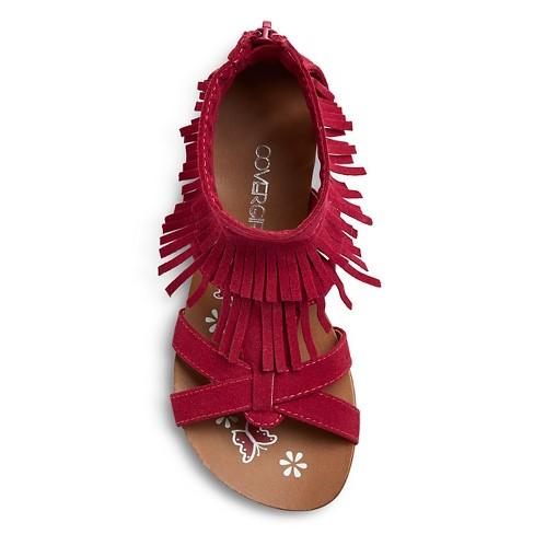 c5150aefd07 Girls  CoverGirl Shelly Double Fringe Gladiator Sandals   Target
