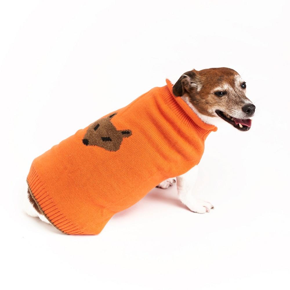 Royal Animals Dog Sweater - Orange - L, Red