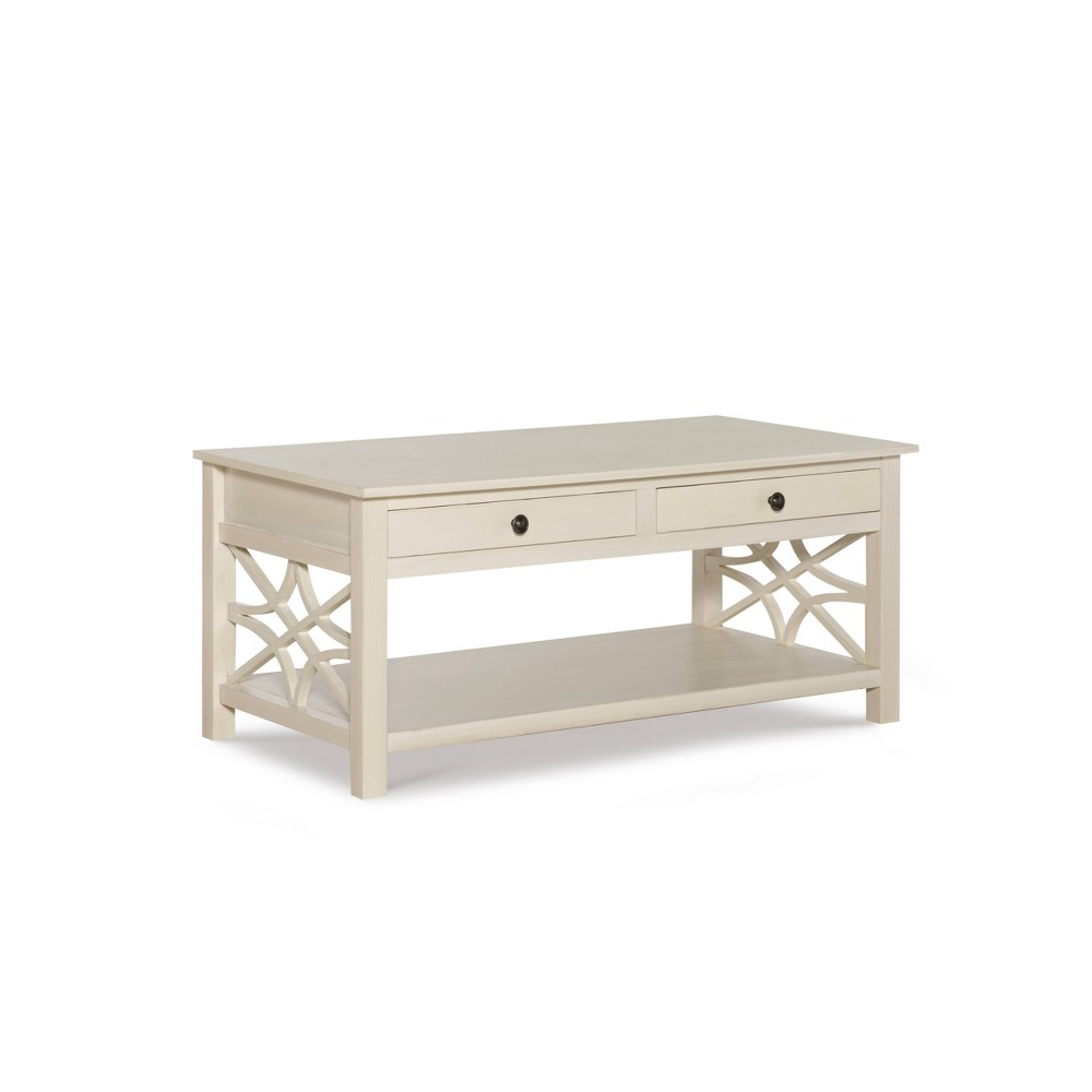 Whitley Antique Coffee Table White Linon