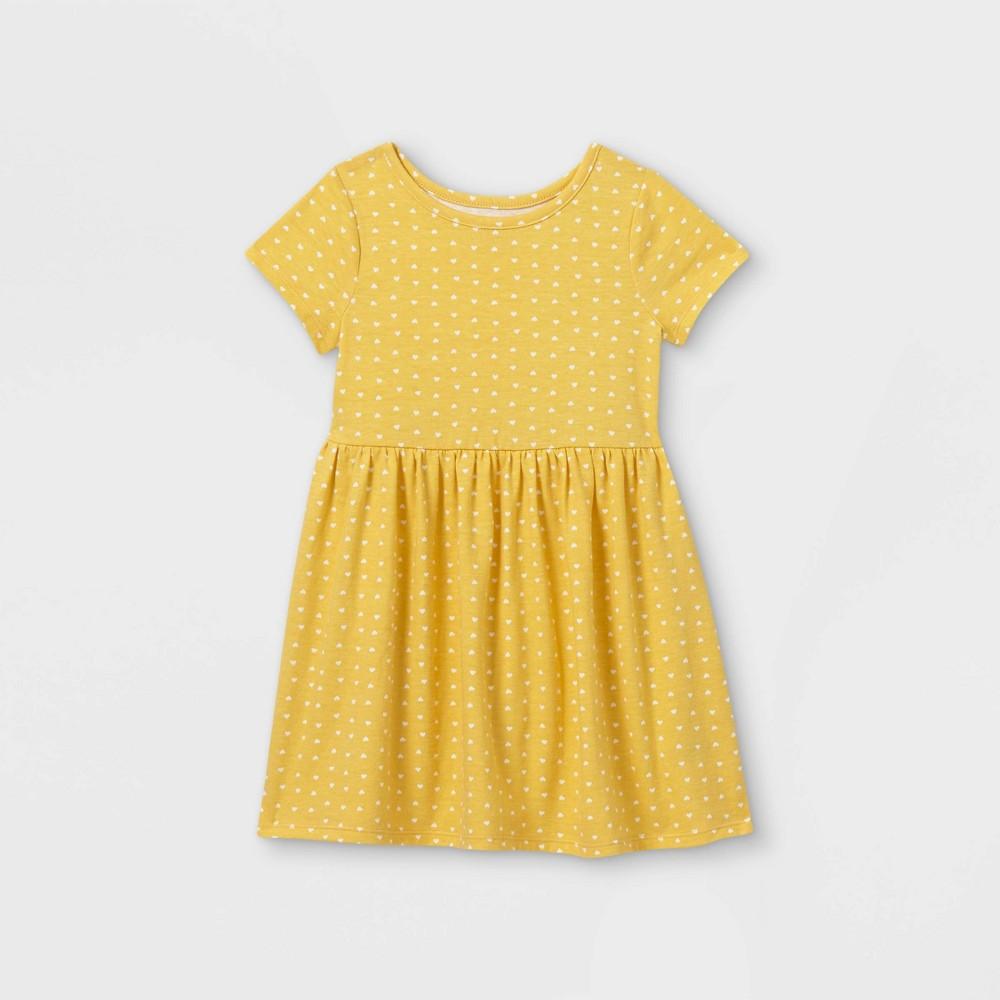 Toddler Girls 39 Short Sleeve Dress Cat 38 Jack 8482 Yellow 5t