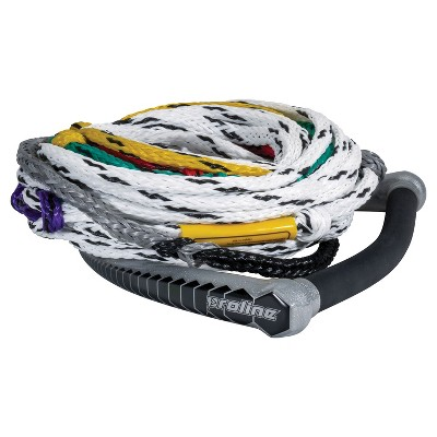 Connelly PROLINE Heavy-Duty 75-Foot Easy-Up Buoyant Waterski Rope with 12-Inch Comfortable Grip Foam Handle