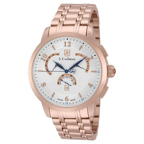 Men's Invicta SC0239 Quartz Chronograph Silver Dial Link Watch - Rose Gold - image 1 of 1