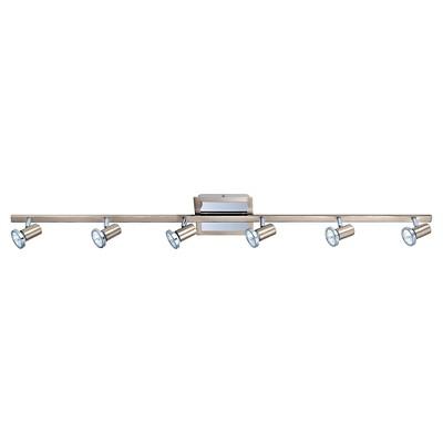 "Rotello - 6 Ceiling Track Light 45.5"" Long Matte Nickel & Chrome - Eglo"