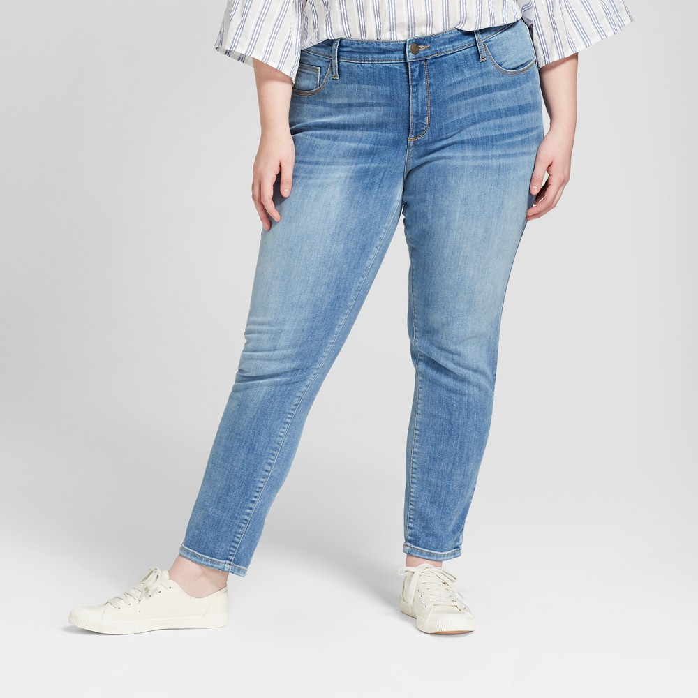 Women's Plus Size Curvy Skinny Jeans - Universal Thread Medium Wash 20W, Blue