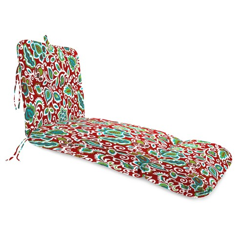 Outdoor Knife Edge Chaise Lounge Cushion In Faxon Rojo  - Jordan Manufacturing - image 1 of 2
