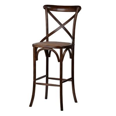 Ebury Bistro Barstool Chair Dark Brown/Black Brush - A&B Home
