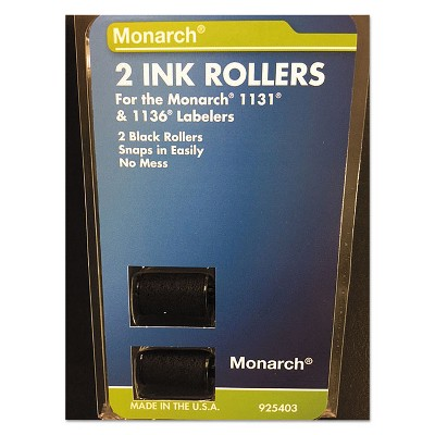 Monarch 925403 Replacement Ink Rollers Black 2/Pack