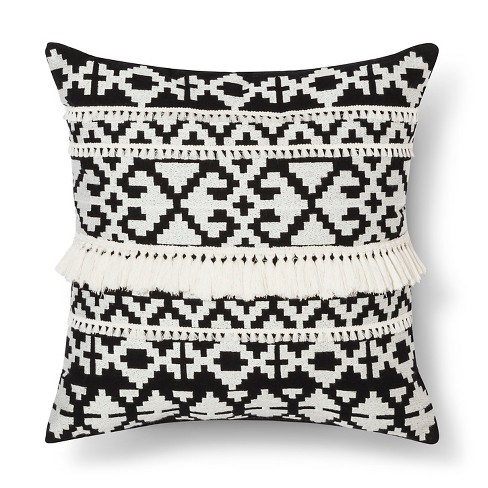 Black/White Throw Pillow Tassel - Threshold™