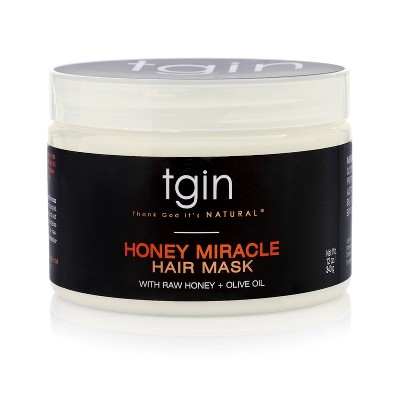TGIN Honey Miracle Hair Mask with Raw Honey + Olive Oil Deep Conditioner - 12oz