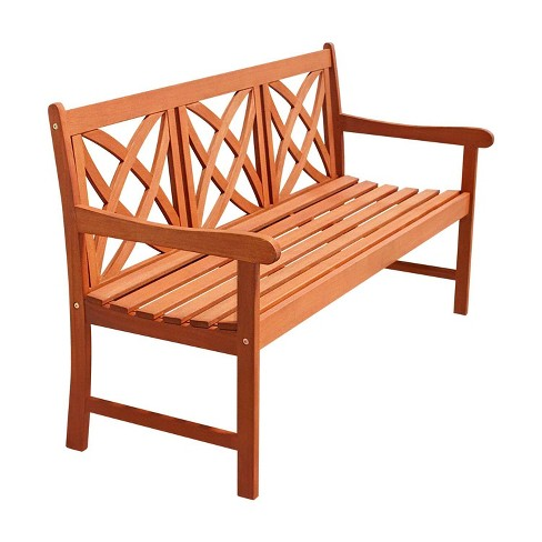 Vifah Star 5-Feet Outdoor Wood Bench - Brown - image 1 of 3
