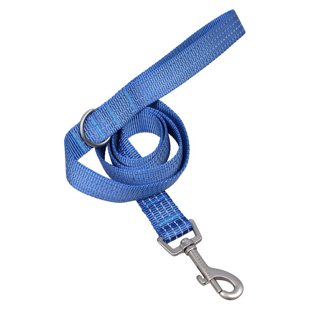Reflective Dog Leash - 6ft Long - Blue - Small - Boots & Barkley, Corrib River Blue
