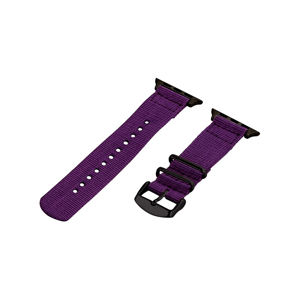 Clockwork Synergy Classic Nato 2 Apple Watch Band 38mm with Black Adapter - Purple, Adult Unisex Customize the look of your timepiece with the Classic Nato 2-Piece Apple Watch Band from Clockwork Synergy. Crafted from high-quality nylon, this purple watchband ensures long-lasting durability without sacrificing comfortable wear. With 11 adjustability holes, you'll get the perfect custom fit so your watch stays in place all day. Whether you add a pop of color to your look from the purple watchband, or you switch it out to complement a specific outfit, you'll love sporting a unique look that complements your style. Gender: Unisex. Age Group: Adult.