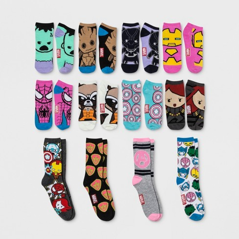 womens marvel 12 days of socks advent calendar