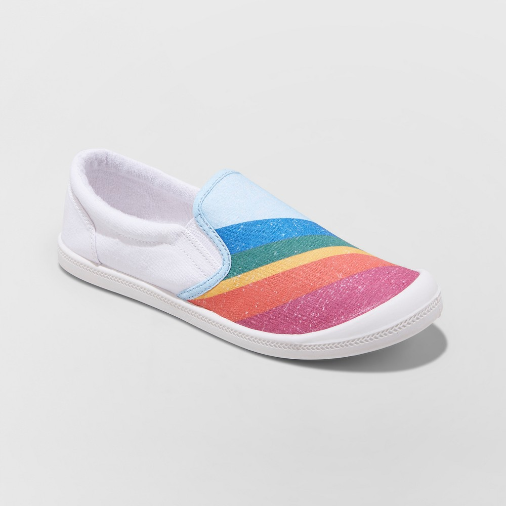 Women's Mad Love Kasandra Slip on Canvas Flexible bottom Sneakers - 12, Multi-Colored