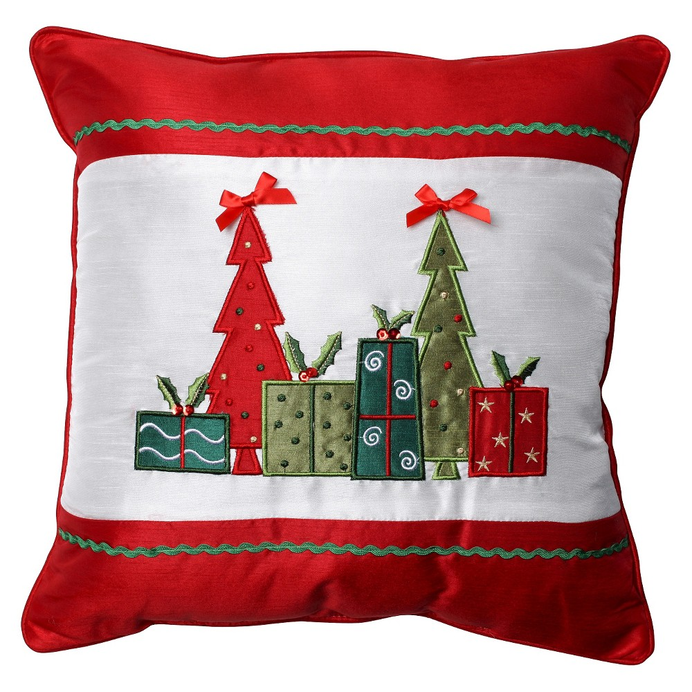 Pillow Perfect Christmas Trees and Presents Throw Pillow - 16.6