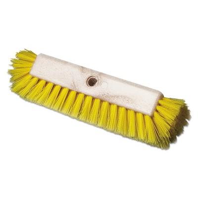 Boardwalk BWK3410 Dual-Surface Plastic Fill 10 in. Scrub Brush- Yellow