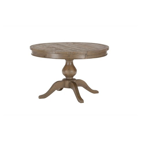 Slater Mill Round To Oval Dining Table WoodReclaimed Pine Jofran - Reclaimed wood oval dining table