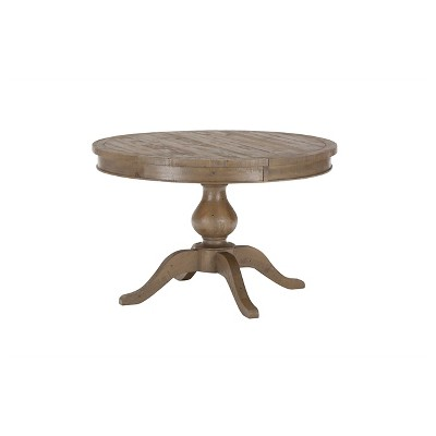 Superior Slater Mill Round To Oval Dining Table Wood/Reclaimed Pine   Jofran Inc.