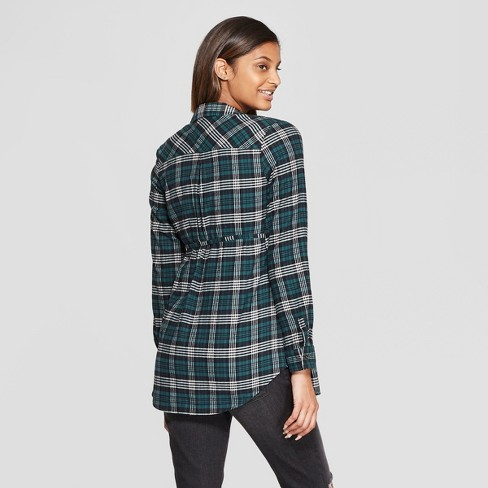 8953127085262 Maternity Long Sleeve Plaid Flannel Popover Tunic - Isabel Maternity By  Ingrid & Isabel™ Green : Target