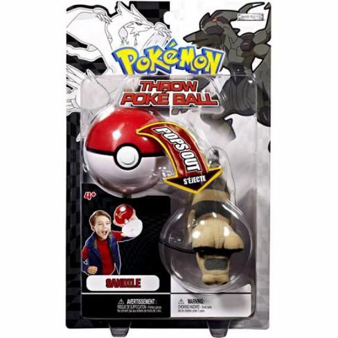 Pokemon Black and White BandW Series 2 Sandile Throw Poke Ball Plush - image 1 of 2