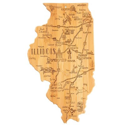 Totally Bamboo Destination Illinois Serving and Cutting Board