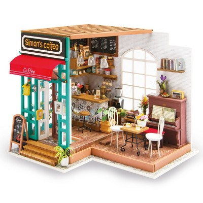Hands Craft DIY 3D Wooden Puzzles - Miniature House: Simon's Coffee