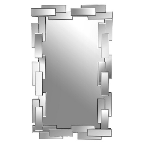Rectangle Freya Decorative Wall Mirror Silver - Abbyson Living - image 1 of 3