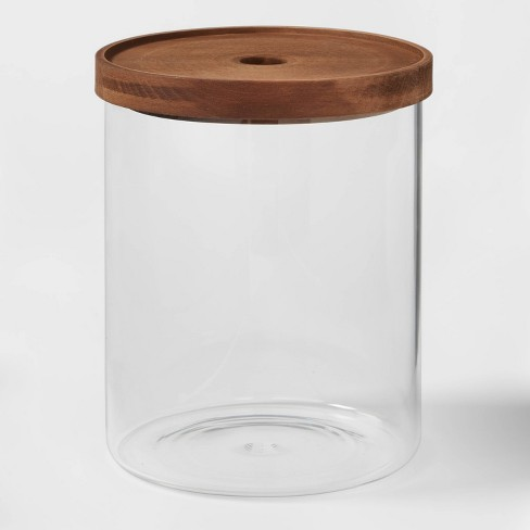 105oz Glass Storage Canister with Wood Lid - Threshold™ - image 1 of 3