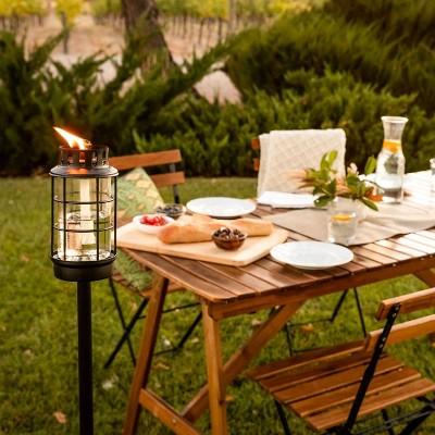 Round Lantern StepNStall Outdoor Torch - TIKI